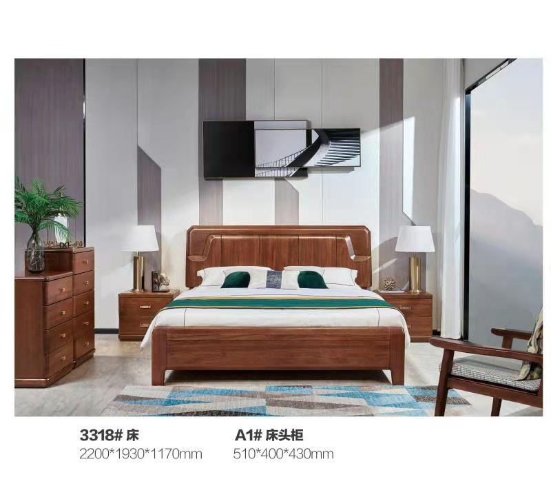 实木床,3318#床